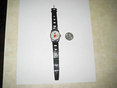 1972 Fred Flintstone wrist watch hands Swiss yabba dabba doo 1972 leather h.b.p