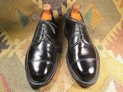 John McHale Black Leather Cap Toe Derby size 9.5 E Made in Canada