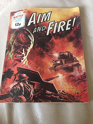 Battle Picture Library 1113 Aim And Fire Bronze Age Comic 1970s