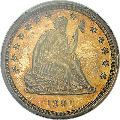 1891 25c PCGS PR65 Seated Liberty Quarter (ONLY 600 MINTED!!)
