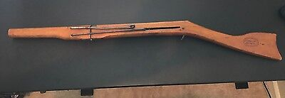 "Markham ""Chicago"" model wooden air rifle circa 1888"