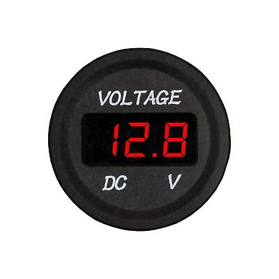 DC 12V Digital Display Voltmeter Red LED Meter for Switch Panel Car Truck