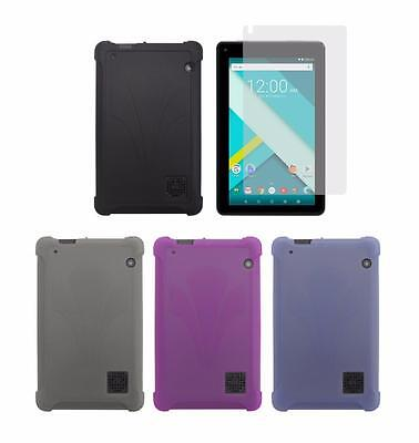 """TPU Cover Case + Screen Protector for RCA Voyager III 7"""" RCT6973W43 2017 Release"""