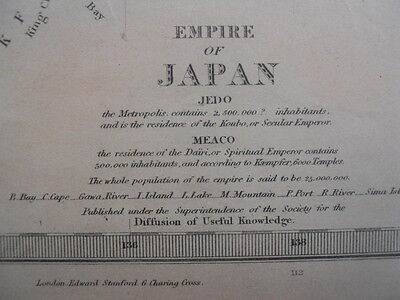 A Map of the Empire of Japan by John & Charles Walker c. 1865