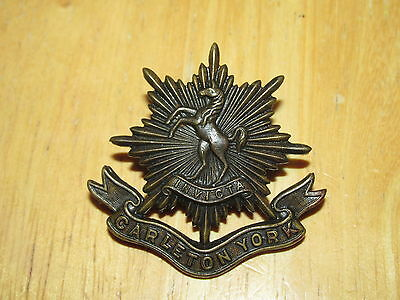 WW2 Canadian Cap Badge Carleton & York Regiment OFFICER Scully