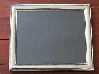"""Vintage Large Sterling Silver Picture Photo Frame, Window size 9.75"""" x 7.75"""""""