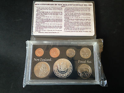New Zealand proof coin set