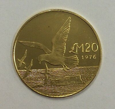1976 Malta Km 43 .917 gold -UNC low mintage 4098