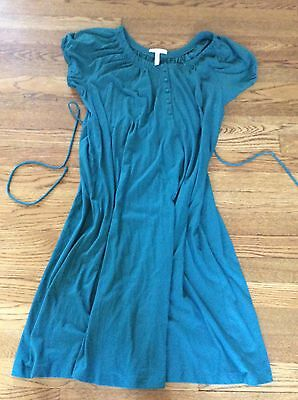 Old Navy Maternity Dress Green Medium Nwt New Buttons Cute 🍇