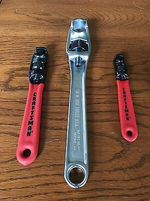 "Craftsman Rare Vintage Adjustable Wrenches ""made In The Usa"""