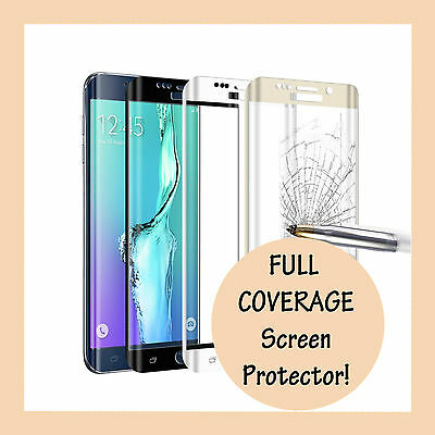 FULL COVERAGE Tempered Glass Screen Protector for Samsung Galaxy S8 and S8 Plus