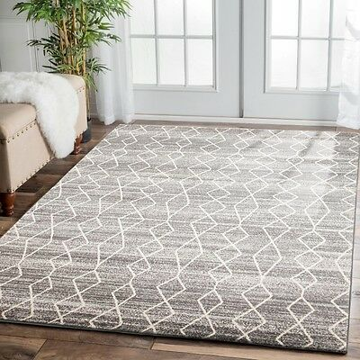 SILVER Grey Cream Modern Rug Quality Floor Mat Carpet FREE DELIVERY*