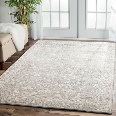 SILVER Cream Grey Modern Rug Large Floor Mat Carpet FREE DELIVERY*