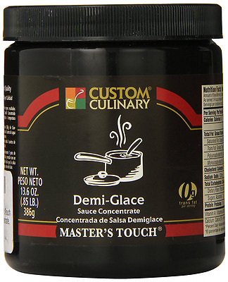Custom Culinary Master's Touh  Concentrate, Demi Glace Sauce, 13.6 Ounce