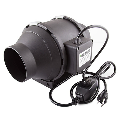 VIVOSUN 4 Inch 190 CFM Inline Duct Fan with Variable Speed Controller for Ventil
