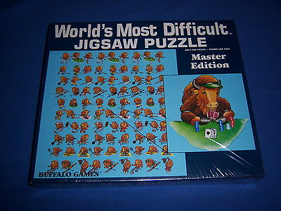 world's most difficult BUFFALO BISON FUN & GAMES jigsaw puzzle-SEALED NEW