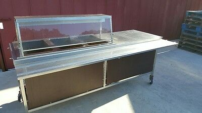 Steam Table 3 Well 'electric' Eagle Food service 240V with sneeze guard & light
