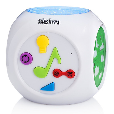 Playbees Baby Sound Machine & Star Projector Night Light, Cry Detecting Nursery