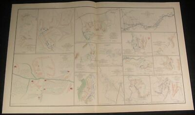 Battle of Bethel Virginia c.1890s huge detailed antique Civil War map