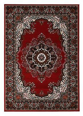Red Floor Rug 230x160cm Large Traditional Persian Carpet 6400 Free Delivery