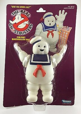 Real Ghostbusters Stay Puft Marshmallow Man Kenner NIB Carded Action Figure