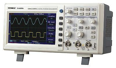 Tenma 72-8225A 50mhz 2 Channel Digital Oscilloscope With 500ms/s Sampling Rate