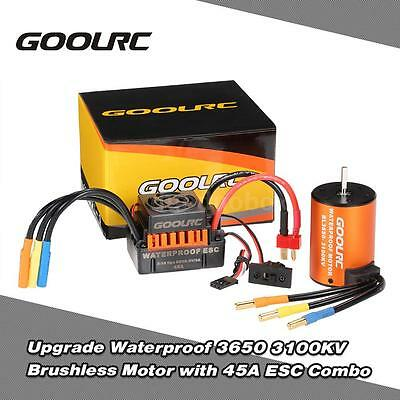 GoolRC Waterproof 3650 3100KV Brushless Motor with 45A ESC for 1/10 RC Car B5H0
