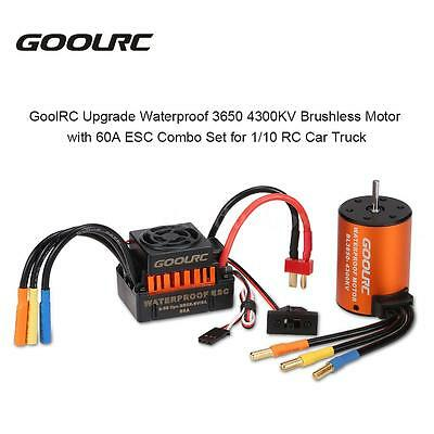 GoolRC Waterproof 3650 4300KV Brushless Motor with 60A ESC for 1/10 RC Car U7Q6