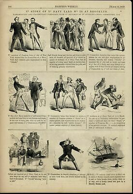 Brooklyn Navy Yard Spoils Election Corruption 1859 great old print for display