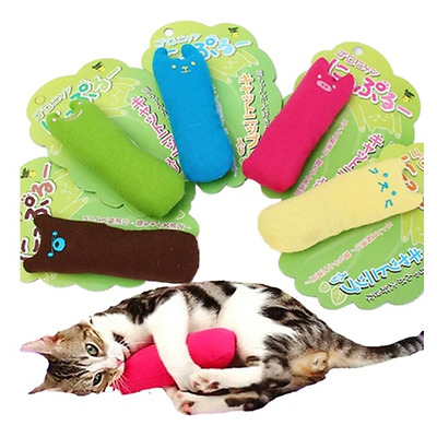 Lovely Mini Interactive Fancy Catnip Cat Pillow Toy Teeth Grinding Claws For Pet