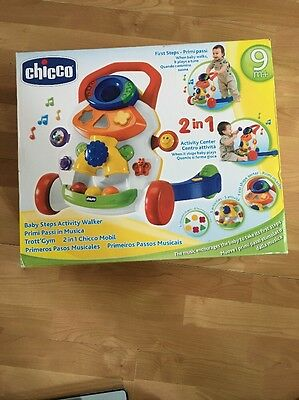 Chicco Baby Steps Interactive Activity Walker - White: As New Boxed.