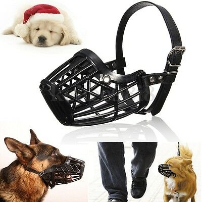 Adjustable Pet Dog Muzzle Mouth Mesh Mask Cover Basket No Biting Chewing Barking