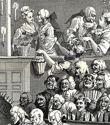 """""""A Laughing Audience"""" - A Line Engraving after William Hogarth - 10""""x12"""""""