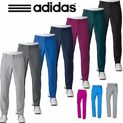 Adidas Golf 2017 Ultimate 3-Stripe Trousers Mens Performance Pants Tapered Leg