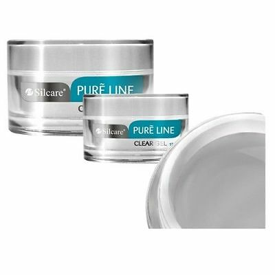 SILCARE PURE LINE CLEAR 15g 50g  UV Gel Nails Acid Free  Buillder File Off