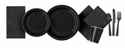 MIDNIGHT BLACK Party Tableware Disposable Birthday Supplies Event Decorations