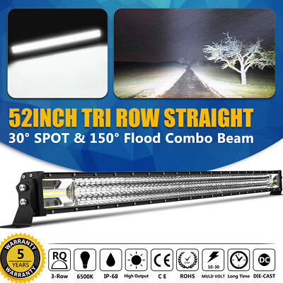 "1566W 52""in LUMILEDS Curved LED Light Bar Combo Flood Spot SUV UTE 4WD Truck 50"""