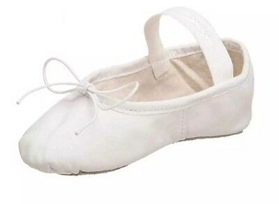 NEW Girls CAPEZIO Dance Ballet Slippers Daisy 205T White Shoes Size 9M