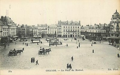 Cp Orleans Place Du Martroi Animee Nd