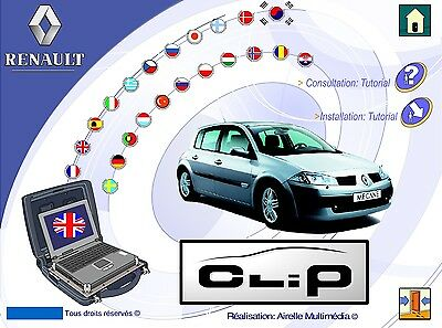 Renault CAN CLiP Training V4 Multilanguage edition. 1 DVD delivery