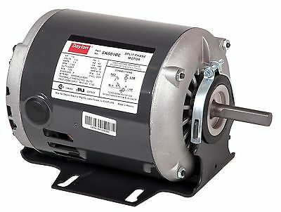 Dayton 1/3 HP General Purpose Motor, Split-Phase, 1725 Nameplate RPM, Voltage