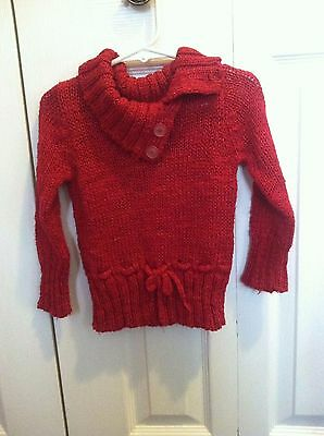 Girls Red Pull over Sweater size 24 M