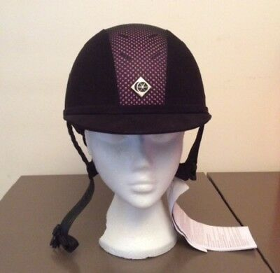 """Charles Owen AYR8 Riding Hat  BLACK/PINK 57 / 7"""" **SALE PRICE - ONE ONLY**"""