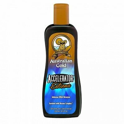 Australian Gold ACCELERATOR EXTREME INTENSE DHA BRONZER 250ml - new 2017 lotion