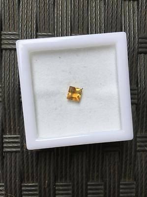5mm x 5mm Golden Yellow Citrine, Quartz - Princess Cut - Loose Gemstone