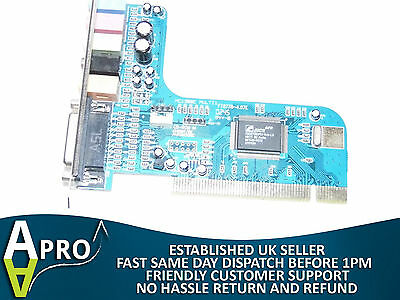 Tested & Working C-Media Cmi8738 5.1 Sound Pci Card - Uk Seller