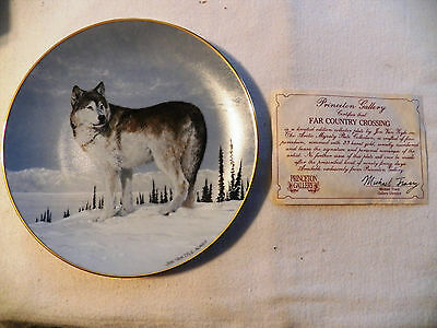 The Artic Majesty Plate. Princeton Gallery. Far Country Crossing. With Certif.
