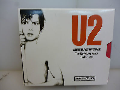 U2-White Flags On Stage.the Early Live Years 1978-1983-3Cd+Dvd Boxset-New.sealed