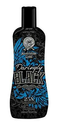 Australian Gold DARINGLY BLACK 25X Fearlessly Dark Bronzing NEW Lotion 250ml