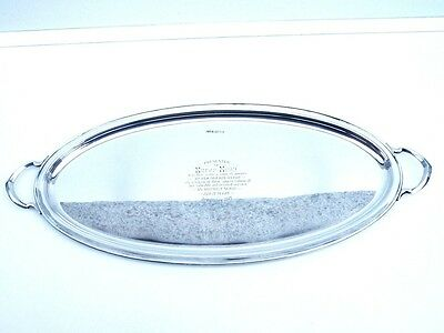 Silver Serving Tray, Sterling, Drinks, English, Hallmarked 1918/19